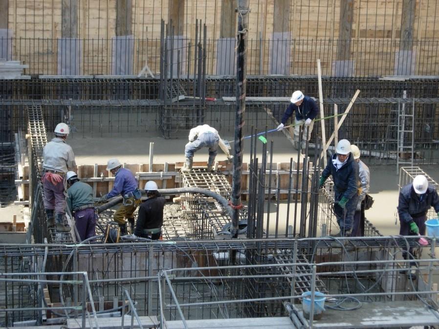 コンクリートの打設手順の解説